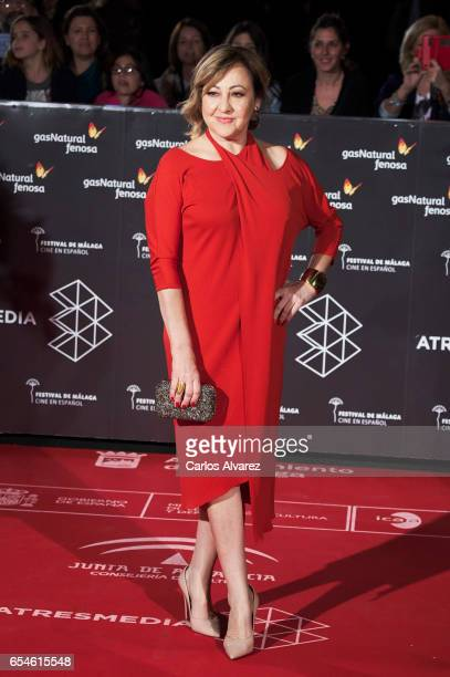 Spanish actress Carmen Machi attends the 20th Malaga Film Festival 2017 opening ceremony at the Cervantes Theater on March 17 2017 in Malaga Spain