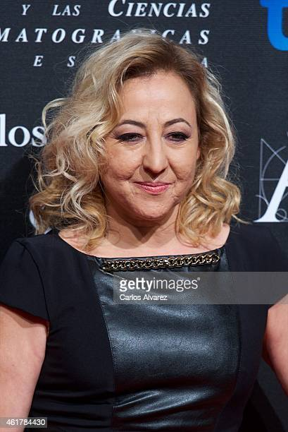 Spanish actress Carmen Machi attends the 29th Goya Awards Nominated party at the Canal Theater on January 19 2015 in Madrid Spain