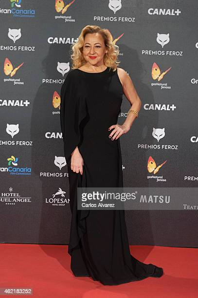 Spanish actress Carmen Machi attends the 'Feroz' Cinema Awards 2015 at Gran Teatro Ruedo Las Ventas on January 25 2015 in Madrid Spain
