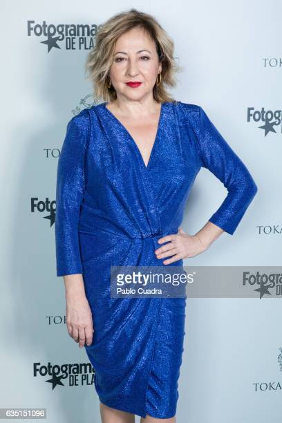 Spanish actress Carmen Machi attends the 'Fotogramas de Plata' awards at 'Tatel' Restaurant on February 13 2017 in Madrid Spain