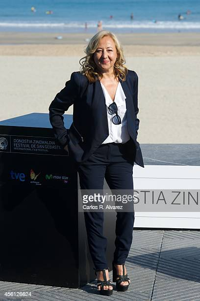 Spanish actress Carmen Machi attends the 'Murieron Por Encima de sus Posibilidades' photocall at the Kursaal Palace during the 62nd San Sebastian...