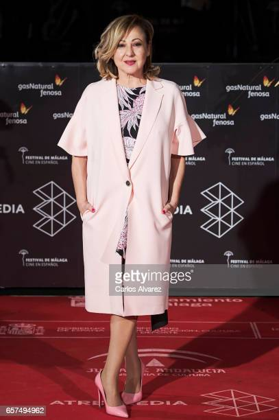 Spanish actress Carmen Machi attends the 'Pieles' premiere on day 8 of the 20th Malaga Film Festival at the Cervantes Teather on March 24 2017 in...