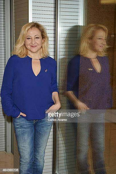 Spanish actress Carmen Machi attends 'Union de Actores' press conference on February 25 2015 in Madrid Spain