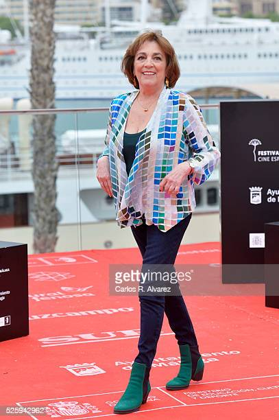 Spanish actress Carmen Maura attends 'El Futuro Ya No Es Lo Que Era' photocall during the Malaga Film Festival on April 29 2016 in Malaga