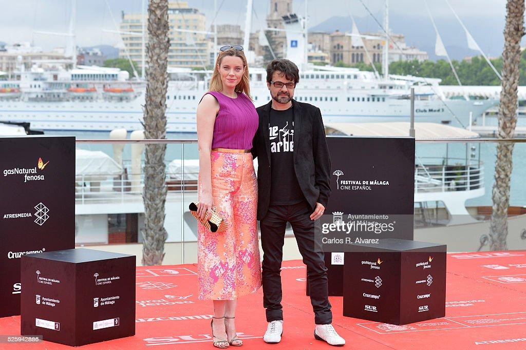 Spanish actress <a gi-track='captionPersonalityLinkClicked' href=/galleries/search?phrase=Carolina+Bang&family=editorial&specificpeople=6724200 ng-click='$event.stopPropagation()'>Carolina Bang</a> and director Pedro Barbero attend 'El Futuro Ya No Es Lo Que Era' photocall during the Malaga Film Festival on April 29, 2016 in Malaga, .