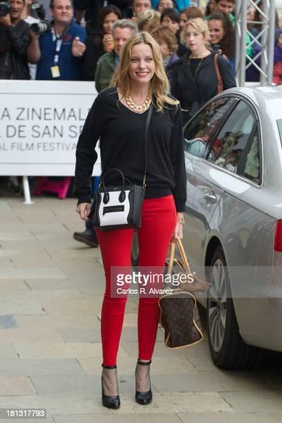 Spanish actress Carolina Bang arrives at the Maria Cristina Hotel during the 61th San Sebastian International Film Festival on September 20 2013 in...