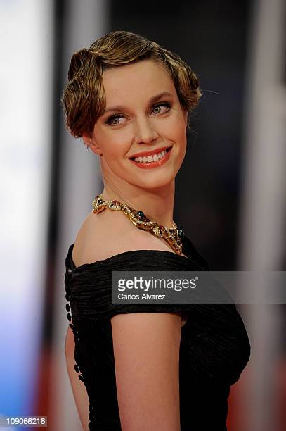Spanish actress Carolina Bang arrives to the 2011 edition of the 'Goya Cinema Awards' ceremony at Teatro Real on February 13 2011 in Madrid Spain