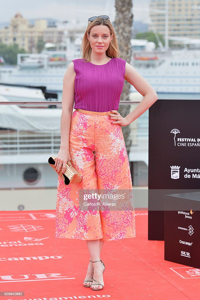 Spanish actress <a gi-track='captionPersonalityLinkClicked' href=/galleries/search?phrase=Carolina+Bang&family=editorial&specificpeople=6724200 ng-click='$event.stopPropagation()'>Carolina Bang</a> attends 'El Futuro Ya No Es Lo Que Era' photocall during the Malaga Film Festival on April 29, 2016 in Malaga, .