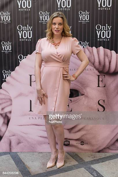Spanish actress Carolina Bang attends 'Pieles' photocall at the Only You Hotel on July 1 2016 in Madrid Spain