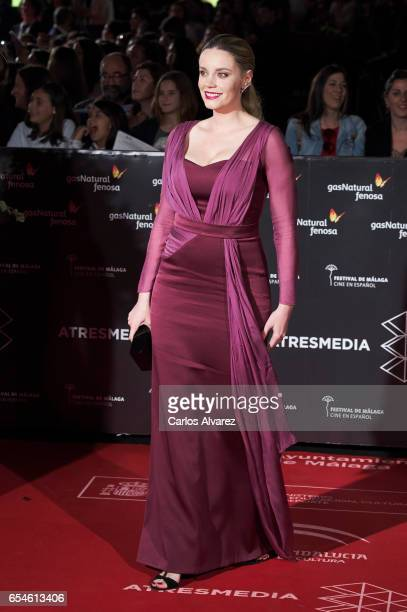 Spanish actress Carolina Bang attends the 20th Malaga Film Festival 2017 opening ceremony at the Cervantes Theater on March 17 2017 in Malaga Spain