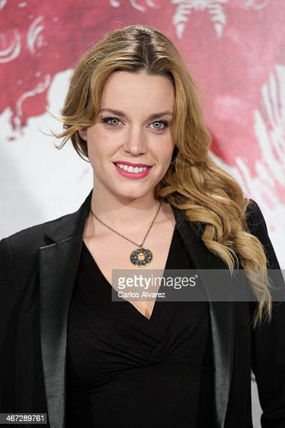 Spanish actress Carolina Bang attends the 'Musaranas' photocall at the Instituto de Cine on February 6 on February 6 2014 in Madrid Spain