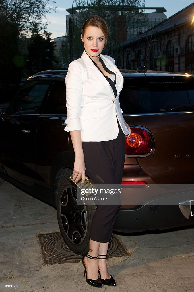 Spanish actress <a gi-track='captionPersonalityLinkClicked' href=/galleries/search?phrase=Carolina+Bang&family=editorial&specificpeople=6724200 ng-click='$event.stopPropagation()'>Carolina Bang</a> attends the new 'Mini Paceman' presentation party at the Museo del Ferrocarril on April 18, 2013 in Madrid, Spain.