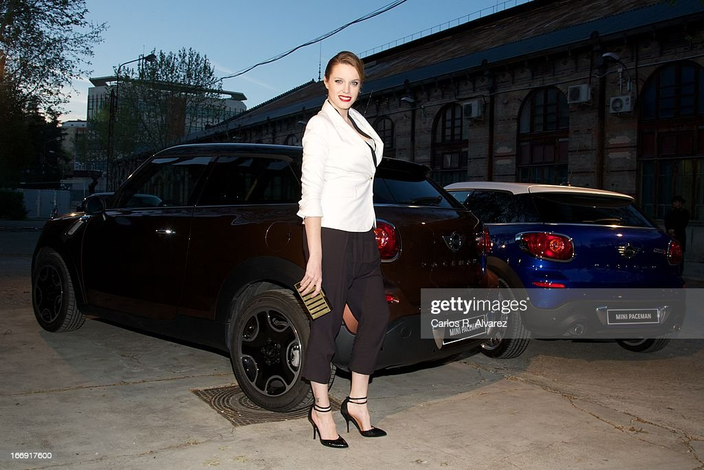 Spanish actress Carolina Bang attends the new 'Mini Paceman' presentation party at the Museo del Ferrocarril on April 18, 2013 in Madrid, Spain.
