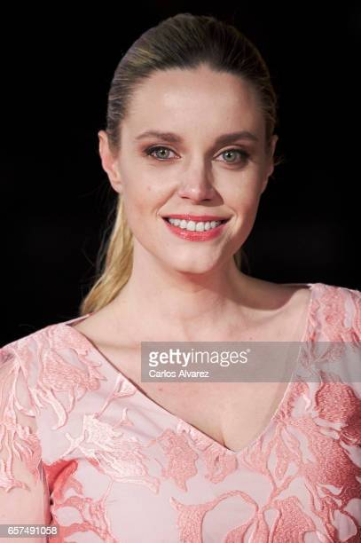 Spanish actress Carolina Bang attends the 'Pieles' premiere on day 8 of the 20th Malaga Film Festival at the Cervantes Teather on March 24 2017 in...
