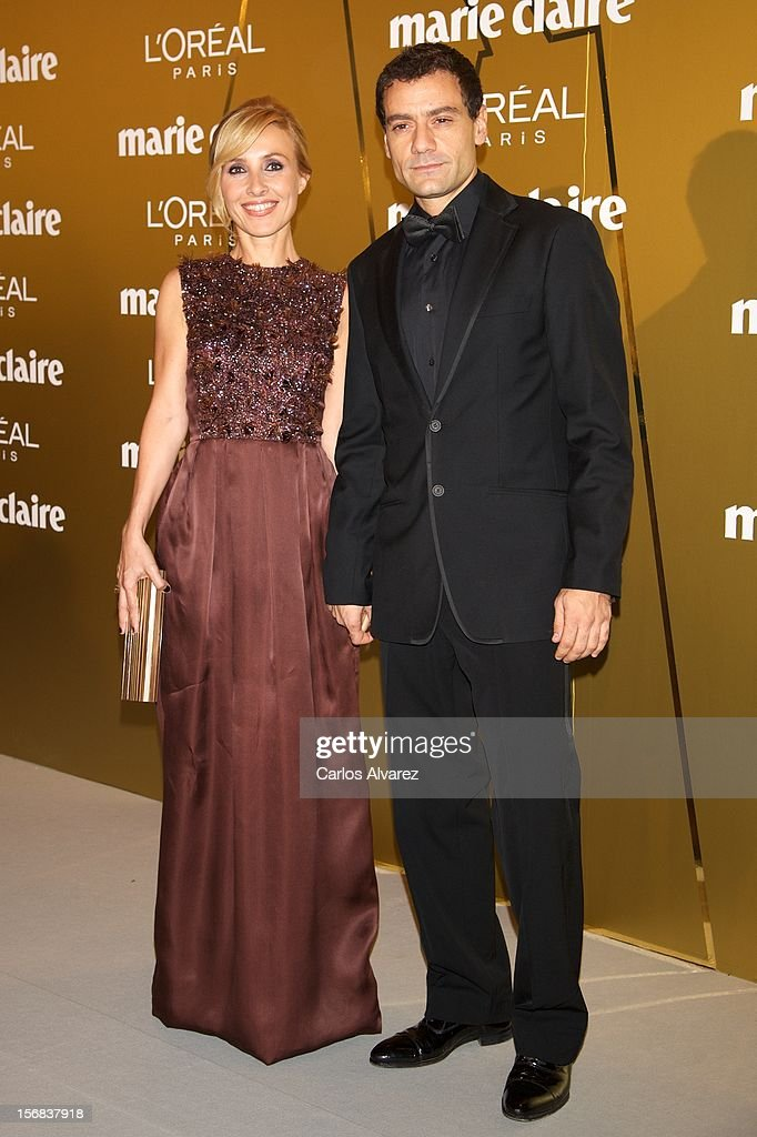 Spanish actress Cayetana Guillen Cuervo and husband Omar Ayashi attends Marie Claire Prix de la Moda Awards 2012 at the French Embassy on November 22, 2012 in Madrid, Spain.