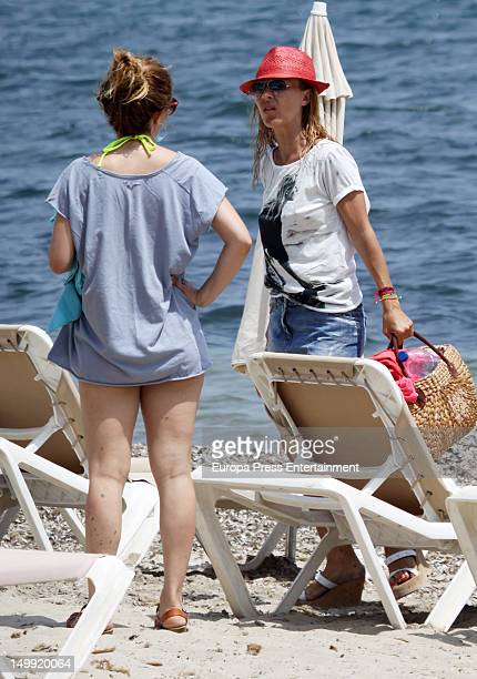Spanish actress Cayetana Guillen Cuervo and Maria Adanez are seen on July 31 2012 in Ibiza Spain