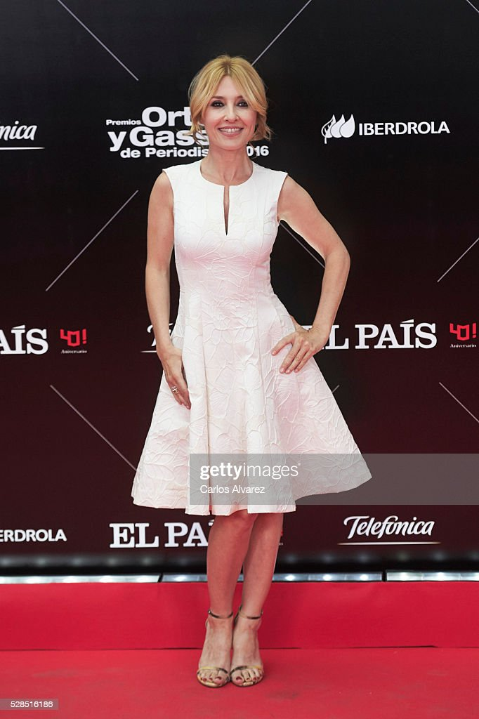 Spanish actress Cayetana Guillen Cuervo attends 'Ortega Y Gasset' journalism awards 2016 at Palacio de Cibeles on May 05, 2016 in Madrid, Spain.