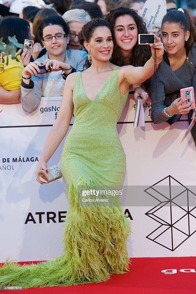 Spanish actress Celia Freijeiro attends the 17th Malaga Film Festival 2014 opening ceremony at the Cervantes Theater on March 21, 2014 in Malaga, Spain.