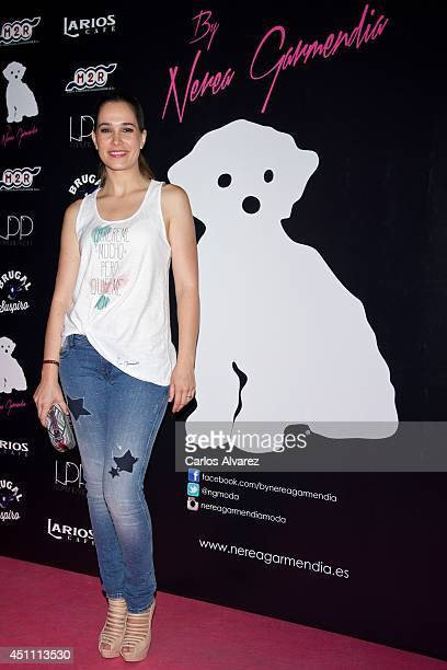 Spanish actress Celia Freijeiro attends the 'By Nerea' new fashion collection at the Larios Cafe on June 23 2014 in Madrid Spain