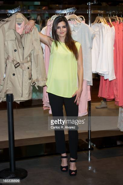Spanish actress Clara Lago presents the new 'Easy Wear' collection at the Corte Ingles Castellana store on April 3 2013 in Madrid Spain