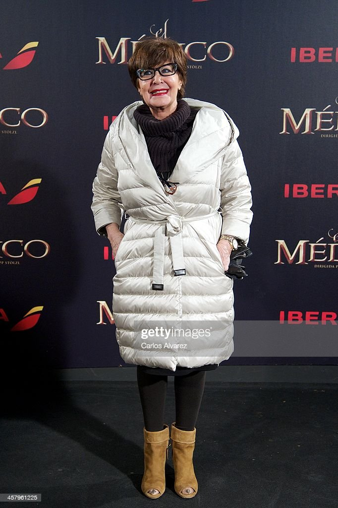 Spanish actress Concha Velasco attends the 'The Physician' (El Medico) premiere at the Callao Cinema on December 19, 2013 in Madrid, Spain.