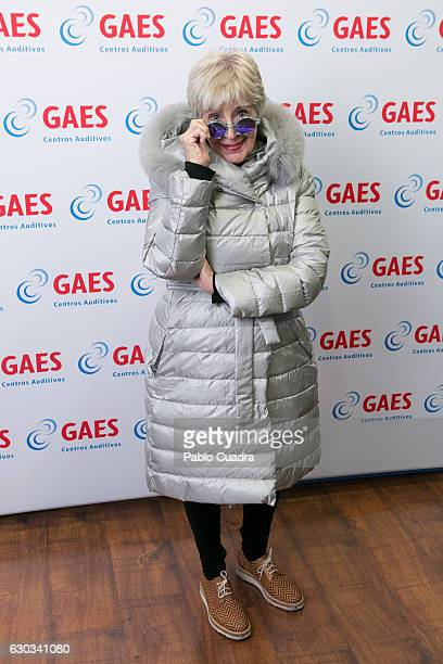 Spanish actress Concha Velasco delivers The GAES Grandfather of the Year Award on December 21 2016 in Madrid Spain