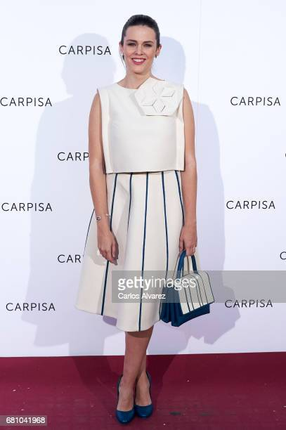 Spanish actress Cristina Abad attends Carpisa photocall presentation at the Italian Embassy on May 9 2017 in Madrid Spain