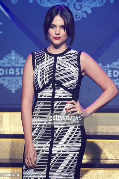 Spanish actress Cristina Abad attends the opening of the new Clandestine Show Club 'The Secret' on March 30 2017 in Madrid Spain