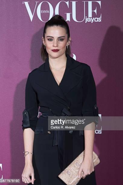 Spanish actress Cristina Abad attends the 'Vogue Joyas' awards 2017 at the Santona Palace on November 23 2017 in Madrid Spain