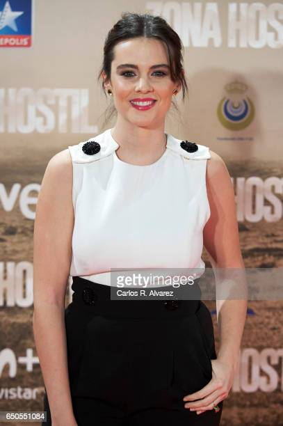 Spanish actress Cristina Abad attends 'Zona Hostil' premiere at the Kinepolis cinema on March 9 2017 in Madrid Spain