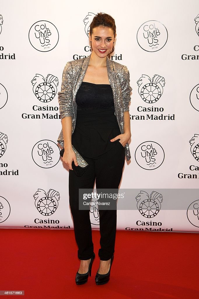 Spanish actress Cristina Brondo attends the Casino Gran Madrid Colon opening on January 9 2014 in Madrid Spain