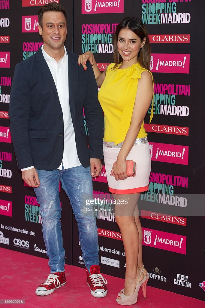 Spanish actress Cristina Brondo (R) attends the 'Cosmopolitan Shopping Week' party at the Plaza de Callao on May 28, 2013 in Madrid, Spain.