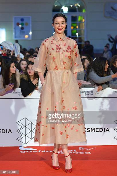 Spanish actress Dafne Fernandez attends the 17th Malaga Film Festival 2014 closing ceremony at the Cervantes Theater on March 29 2014 in Malaga Spain