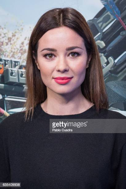 Spanish actress Dafne Fernandez presents the 'Horizon Zero Dawn' videogame at 'La Neomudejar' on February 15 2017 in Madrid Spain