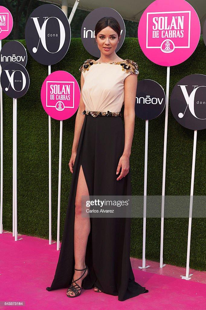 Spanish actress Dafne Fernnadez attends 'Yo Dona' International awards on June 27, 2016 in Madrid, Spain.