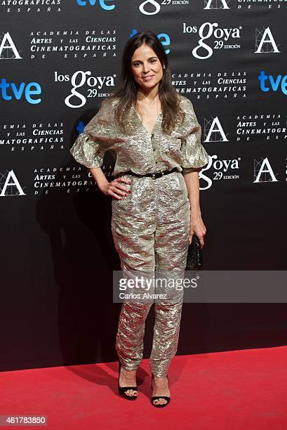 Spanish actress Elena Anaya attends the 29th Goya Awards Nominated party at the Canal Theater on January 19 2015 in Madrid Spain