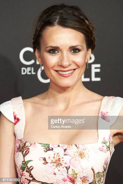 Spanish actress Elena Ballesteros attends 'Las Chicas Del Cable' premiere at the Callao cinema on April 27 2017 in Madrid Spain
