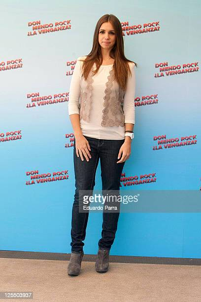 Spanish actress Elena Furiase attends 'Don Mendo Rock La Venganza' at Fenix Hotel on December 14 2010 in Madrid Spain