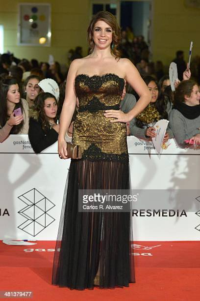 Spanish actress Elena Furiase attends the 17th Malaga Film Festival 2014 closing ceremony at the Cervantes Theater on March 29 2014 in Malaga Spain