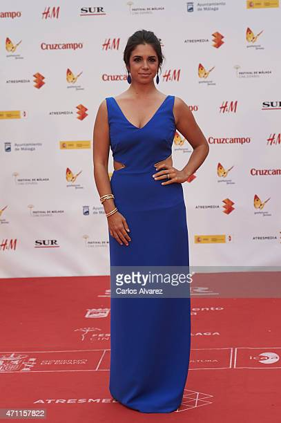 Spanish actress Elena Furiase attends the 18th Malaga Spanish Film Festival close ceremony at the Cervantes Theater on April 25 2015 in Malaga Spain