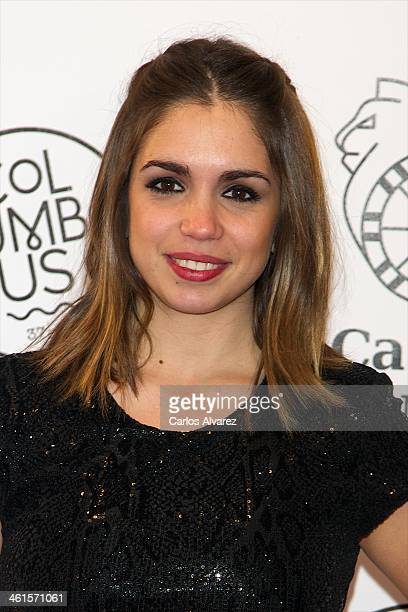 Spanish actress Elena Furiase attends the Casino Gran Madrid Colon opening on January 9 2014 in Madrid Spain