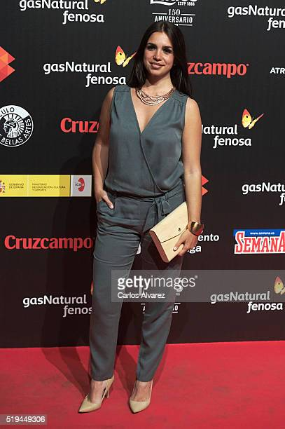 Spanish actress Elena Furiase attends the Malaga Film Festival 2016 presentation cocktail at the Circulo Bellas Artes on April 6 2016 in Madrid Spain