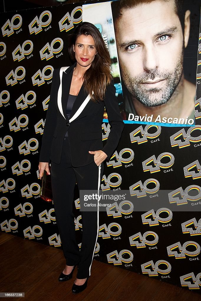 Spanish actress Elia Galera attends David Ascanio concert at the Cafe 40 Club on April 11, 2013 in Madrid, Spain.