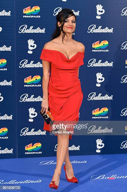 Spanish actress Elisa Mouliaa attends the 40 Principales Awards 2015 photocall at the Barclaycard Center on December 11 2015 in Madrid Spain