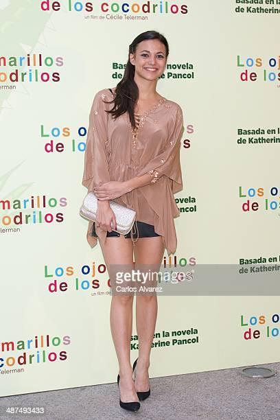 Spanish actress Elisa Mouliaa attends the 'Los Ojos Amarillos de los cocdrilos' premiere at the Academia de Cine on April 30 2014 in Madrid Spain