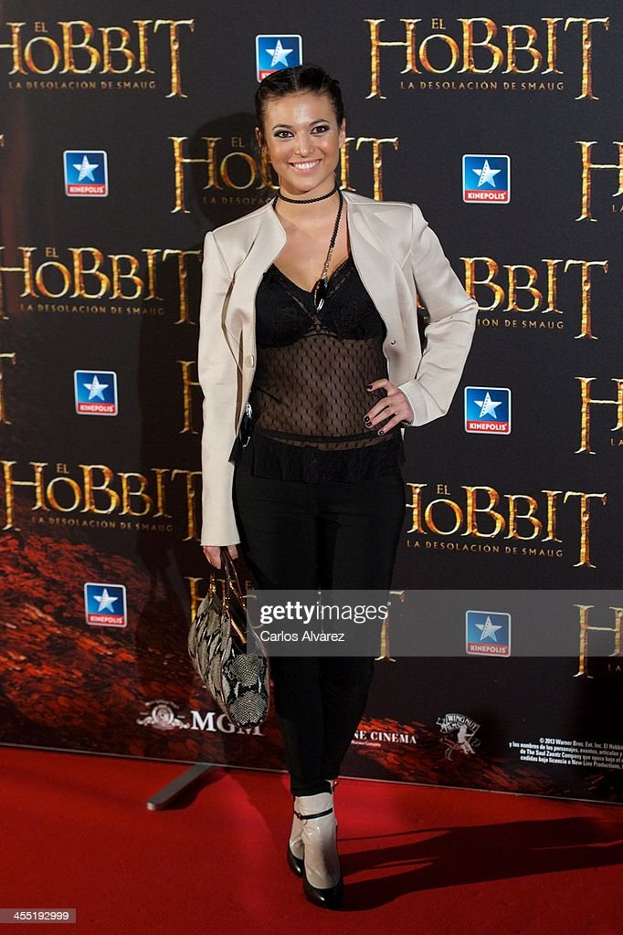 Spanish actress Elisa Mouliaa attends the 'The Hobbit: The Desolation of Smaug' (El Hobbit: La desolacion De Smaug) premiere at the Kinepolis cinema on December 11, 2013 in Madrid, Spain.