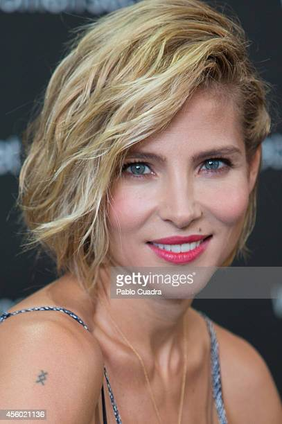 Spanish actress Elsa Pataky poses during a photocall to present 'Dark Seduction' Fashion Film by Women'secret on September 24 2014 in Madrid Spain