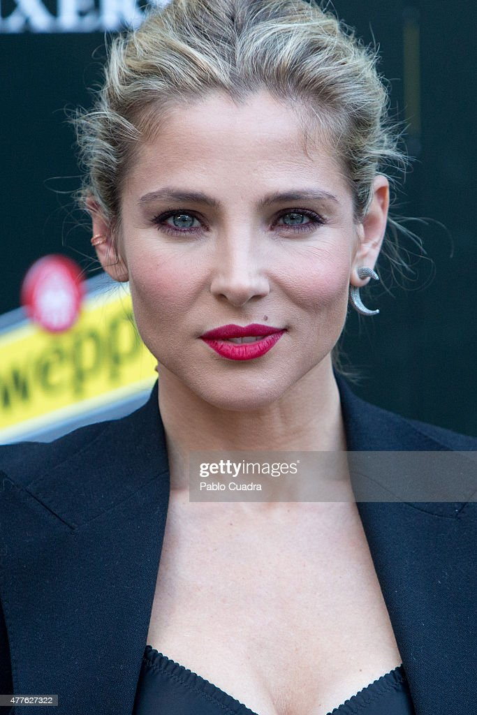 Spanish actress <a gi-track='captionPersonalityLinkClicked' href=/galleries/search?phrase=Elsa+Pataky&family=editorial&specificpeople=242789 ng-click='$event.stopPropagation()'>Elsa Pataky</a> presents the new Hibiscus by Schweppes at Ferrocarril Museum on June 18, 2015 in Madrid, Spain.