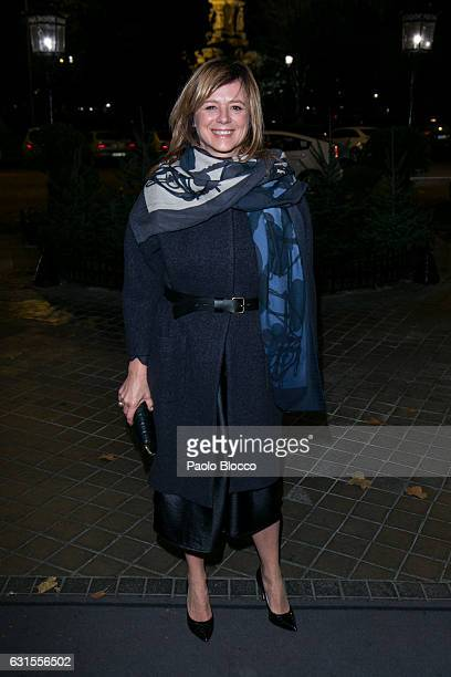 Spanish actress Emma Suarez arrives at the 31st Goya Awards nominated party at Ritz Hotel on January 12 2017 in Madrid Spain