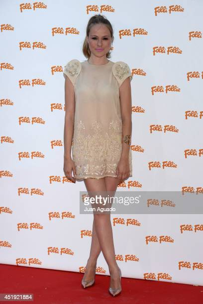 Spanish actress Esmeralda Moya attends a Folli Follie Summer Party in Madrid on July 9 2014 in Madrid Spain